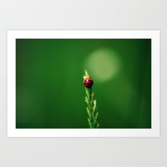 Ladybug Hugs Art Print