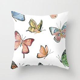 Butterflies by Lindsay Brackeen Throw Pillow