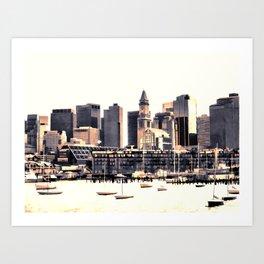 Skyline of Boston Art Print