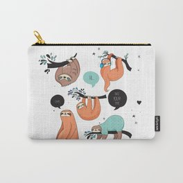 Keep calm and be Sloth Carry-All Pouch