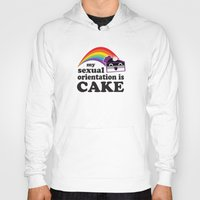asexual Hoodies featuring My Sexual Orientation Is Cake Asexual Pride by TheRandom