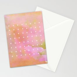 watercolor wash and dots Stationery Cards
