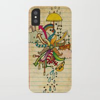 cthulu iPhone & iPod Cases featuring Notebook World by Duru Eksioglu