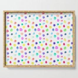 Watercolor confetti Serving Tray