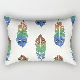 Colorful Decorative Feathers Rectangular Pillow
