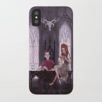 the office iPhone & iPod Cases featuring Hades' Office by elvishness