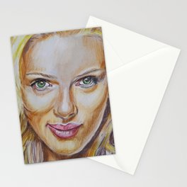 Scarlett Johansson Stationery Cards