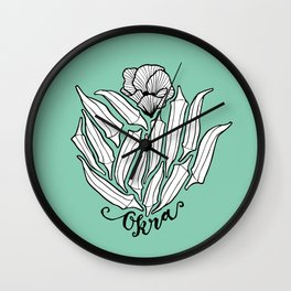 The Bloom of Okra Wall Clock