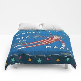 Snorkeling Boy Comforters