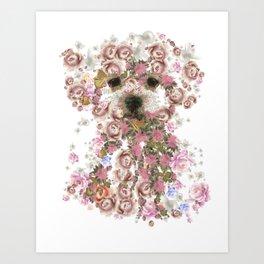 Vintage doggy Bichon frise.DISCOVER Art Print