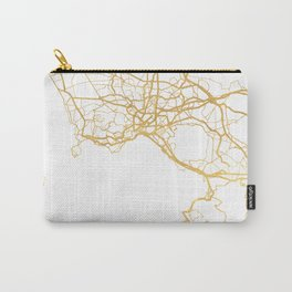 NAPLES ITALY CITY STREET MAP ART Carry-All Pouch