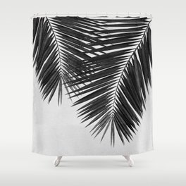 Palm Leaf Black & White II Shower Curtain