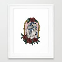 r2d2 Framed Art Prints featuring R2D2 by Bare Wolfe