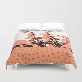 Dots and flowers Duvet Cover