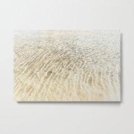 Beach Ripples Metal Print