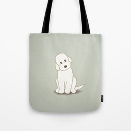 Cream Labradoodle Dog Illustration Tote Bag