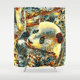 AnimalArt_Panda_20180102_by_JAMColors Shower Curtain