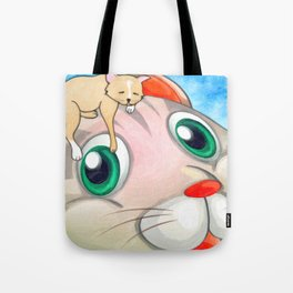 Whimsical Cat Painting My New Hat by Liane Wright Tote Bag