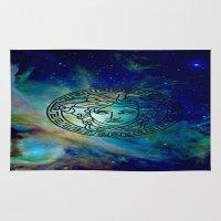versace Area & Throw Rugs featuring Versace Nebula  by RickyRicardo787