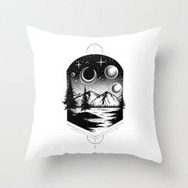 4 MOONS Throw Pillow
