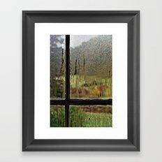 Droplet Landscape III Framed Art Print