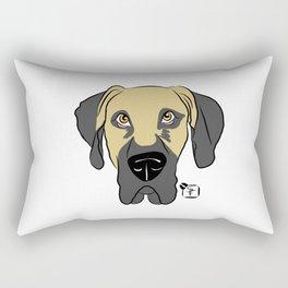 Faun Great Dane Face Rectangular Pillow