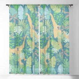 gibbon Sheer Curtain