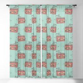 Nature's boombox Sheer Curtain