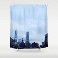 brooklyn Shower Curtains featuring Brooklyn by ElectricShotgun