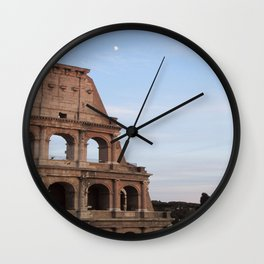 Rome Colosseum (Coliseum) at sunset Wall Clock