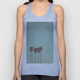 Vintage Palm Trees Unisex Tank Top