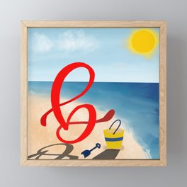 Baby B at the Beach Framed Mini Art Print