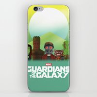 guardians of the galaxy iPhone & iPod Skins featuring Guardians of the Galaxy by Casa del Kables