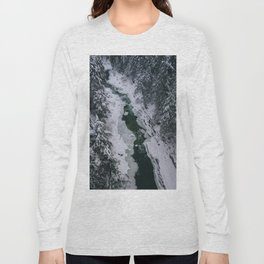 Frozen River Gorge in Vermont Long Sleeve T-shirt