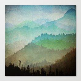 Watercolor Hills Canvas Print