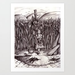 The Scarecrow Gets His Brain Art Print