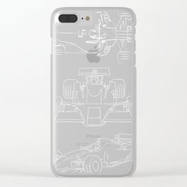 Formula Racing Fan print, Great Gift for Speed Freaks Clear iPhone Case
