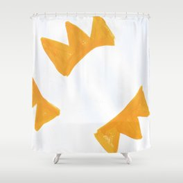 The Crown of Basquiat, Abstract, Selective Yellow Shower Curtain