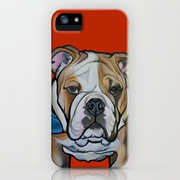 Johnny the English Bulldog iPhone Case