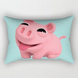 Rosa the Pig Happy Rectangular Pillow
