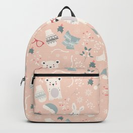 Christmas polar animals pattern 003 Backpack