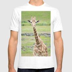 Smiling Giraffe MEDIUM Mens Fitted Tee White