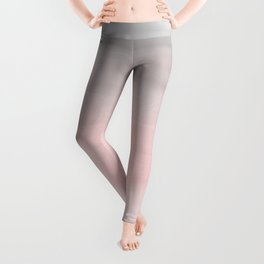 Blushing Pink & Grey Watercolor Leggings