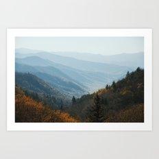 Smoky Mountain Fade Art Print