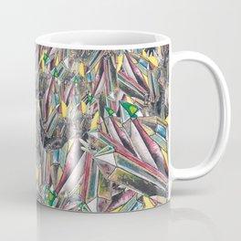 Rainbow Metallic Crystals Coffee Mug
