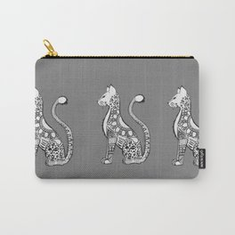 Kitty with grey background Carry-All Pouch