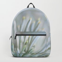pine needles in blurry green shades Backpack