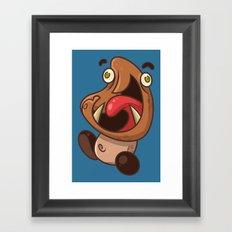 Excited Goomba Framed Art Print