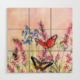 Wild meadow butterflies Wood Wall Art
