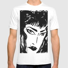 M with bangs Mens Fitted Tee MEDIUM White